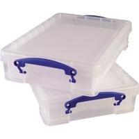 Really Useful Box Aufbewahrungsbox 4C 39x8,8x24cm 4l transparent