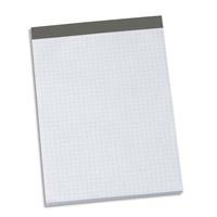 NEUTRE Bloc sans couverture 14,8 x 21 cm A5. 200 pages détachables 56g quadrillées 5x5