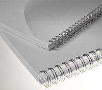 Chr. Renz Binderücken Renz Ring Wire 2:1 14,3 mm für 120 Blatt silber