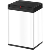 Szemetesvödör Big-Box® Swing, L, Acéllemez, 35 l, 340x260x530mm, fehér