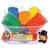 Assortiment de 6 pains de 500g de pâte à jouer en Boîte : Bleu, Rouge, Vert, Jaune, Marron, Orange
