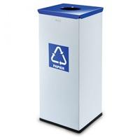 Kôš na triedený odpad 50 L strieborný, papier