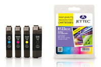 Jet Tec B123BCMY Tintenpatrone Schwarz, Cyan, Magenta, Gelb Mehrfachverpackung