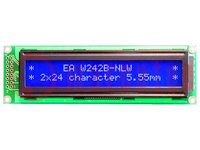 Display: LCD; alfanumeriek; STN Negative; 24x2; blauw; LED; PIN:16