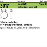 DIN 3017 Stahl B1 14/ 9 -W1 galvanisch verzinkt Zn VE=S (100 Stück ...