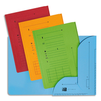 ELBA Paquet de 25 sous-dossiers ultimate 2 rabats kraft 240gr coloris assortis