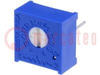 Potentiometer: für den Einbau; 1-Drehung, liegend; 200Ω; 500mW