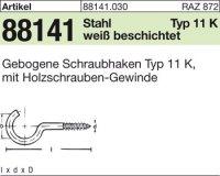 Gebogene Schraubhaken 50x3,3x16