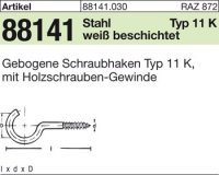 Gebogene Schraubhaken 30x2,3x10