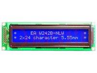 Kijelző: LCD; alfanumerikus; STN Negative; 24x2; kék; LED; 118x36mm