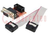 Bővítő kártya; D-Sub 9pin, UEXT; Interfész: RS232; 33x26mm