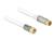 Antennenkabel F Stecker an IEC Buchse RG-6/U quad shield 2 m weiß Premium, Delock® [89400]