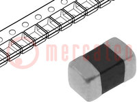 Ferrite: bead; Imp.@ 100MHz:600Ω; Mounting: SMD; 0.8A; Case:0603