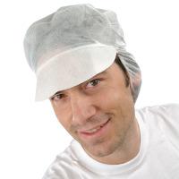 Artikelbild: PP-Schirmmütze mit Haarnetz, weiß im DK