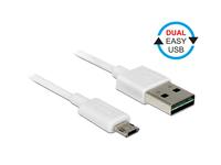 Kabel EASY USB 2.0, Stecker A an Micro Stecker B, weiß, 0,5m, Delock® [84806]