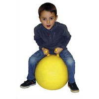 Ballon sauteur diamètre 45 cm avec 2 poignées séparées, regonflable