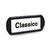 Namensschild, selbstklebend Kunststoff, schwarz, für Fächerschränke