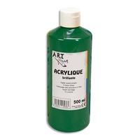 ART PLUS Acrylique brillante 500ml Vert emeraude