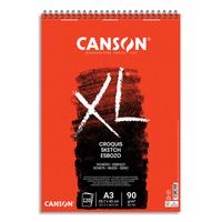 CANSON Bloc spiralé de 120 feuilles de papier dessin CROQUIS XL 90g A3