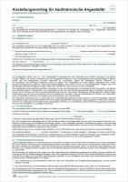 Anstellungsvertrag Für Kaufmännische Angestellte 2 Seiten Din A4