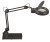 LED lamp with magnifying lens MAULviso, with base