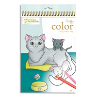 AVENUE MANDARINE Book 24 feuilles format 21 x 34cm à colorier Graffy Color,Maman/bébé Animaux familier