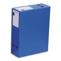 VIQUEL Boite de classement MAXIDOC, en polypropylène 12/10ème, dos de 12cm, coloris bleu opaque