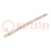 LED-Band; RGBW; 5050; 24V; LED/m: 96; 12mm; weiße PCB; IP65; 23W/m
