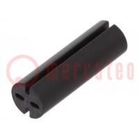 Distanční podložka; LED; Øprům: 5,1mm; ØLED: 5mm; Dl: 16mm; černá