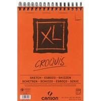 Album de 120 feuilles de papier dessin CROQUIS XL spirale 90g A4