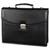 ALASSIO Serviette classique noire ne simili cuir, 2 compartiments + poches - Dim. L38 x H31 x P9,5 cm