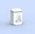 CWS Hygienebox MediLine, Typ 760 - 6-Liter, Alu-weiß Bild1