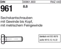 DIN961 M20x2x60