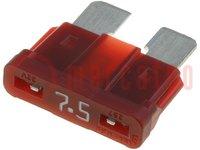 Zekering: smeltveiligheid; autozekering; 7,5A; 32V; 19mm; ATO
