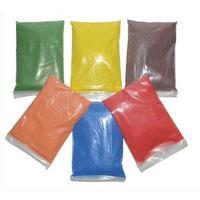 6x500g de sable naturel coloré aux couleur : Rouge-vert-bleu-jaune-orange-marron + 6 salières vides