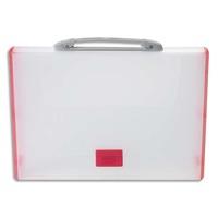 TARIFOLD Valisette rouge polypro rigide, format 26,1x36,7x4,4