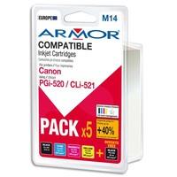 ARMOR Pack de 5 cartouches Jet d'encre CANON PGI520/CLI521 B10158R1