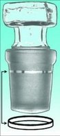 Dichtringe für Kegelschliffe PTFE NS 14