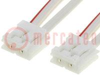 Csatlakozó kábel; 0,75m; MVL; Erek: :2; 0,34mm2; Ér: sodrat
