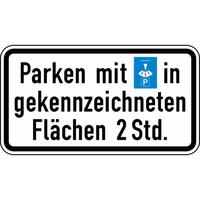Modellbeispiel: VZ Nr. 1040-33, (Parken mit Parkscheibe...)