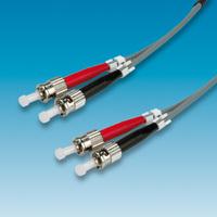 VALUE LWL-Kabel 50/125µm ST/ST, OM1, grau, 3,0 m