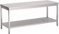 Saro Arbeitstisch aus Edelstahl Modell LILIAN 1400 mm