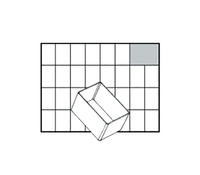 Raaco Insert Storage Solution for Small Parts Robust Polypropylene Transparent Ref 105590 [Pack 48]