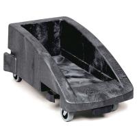 Fahrgestell koppelbar für Mülltonne 60 L + 87 L Kunststoff schwarz
