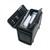 ALASSIO Pilot Case Trolley noir en simili cuir, serrure à combinaison, compartiments L48,5 x H37 x P23 cm
