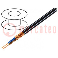 Wire; 2x0,25mm2; braid made of copper wires; PVC FirestoP®; 49V