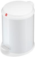 Abfallbehälter Hailo T1 M Stahlbl. Weiß 11L, Inneneimer: Kunststoff,Schwarz Bild 1