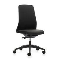 Krzesło obrotowe dla operatora EVERY, oparcie Chillback, czarne