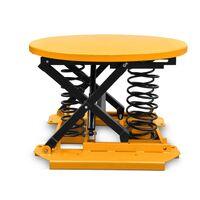 Obrotowy stół podnośny, samopoziomujący