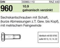 DIN960 M16x1,5x90